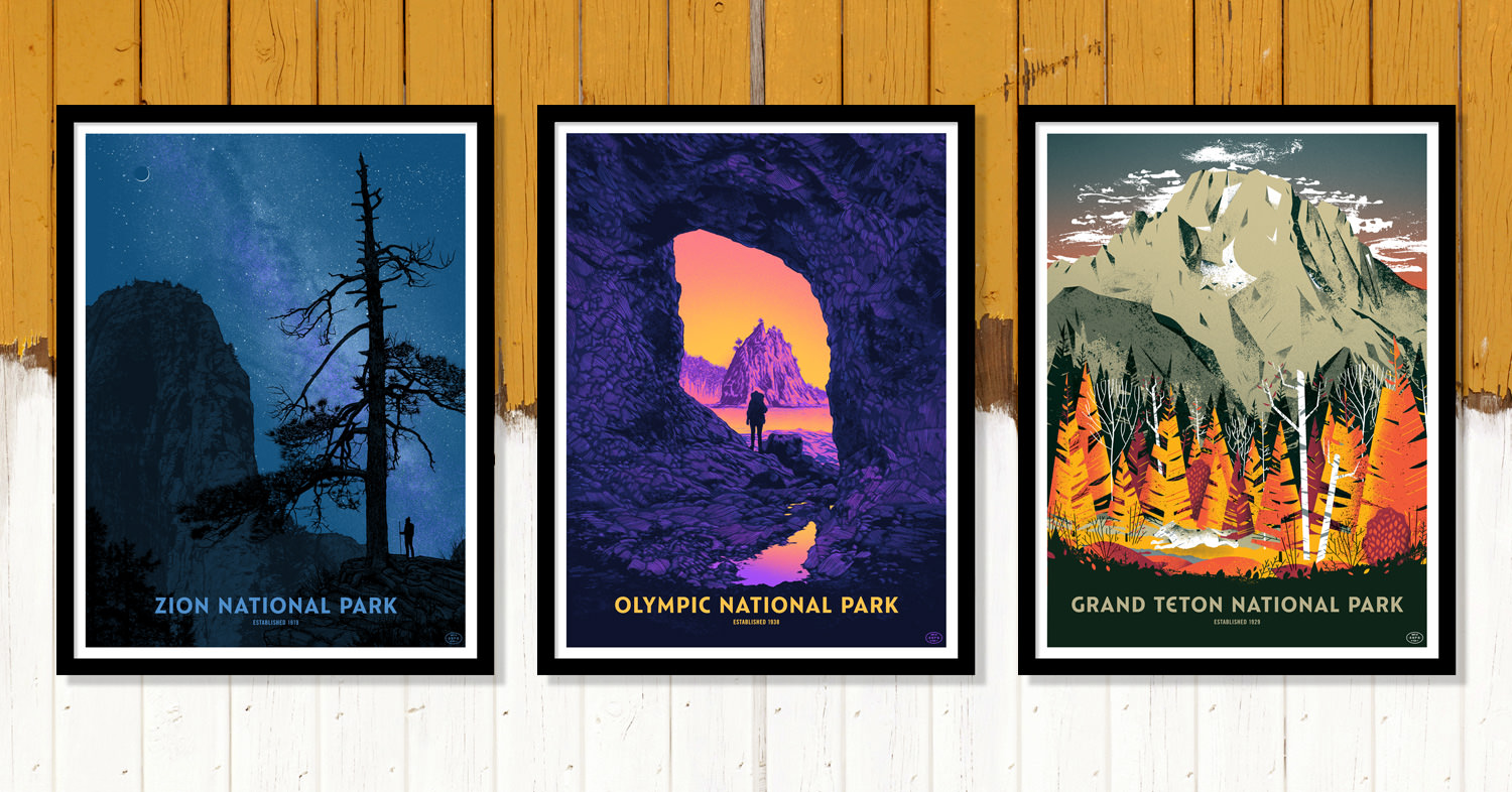 Fity-Nine Parks Print Series Wall